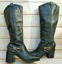 JESSICA SIMPSON Lanasi Tall Boots Buckle Pirate Equestrian Steampunk Cosplay 9M