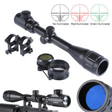 4-16x40AOEG Rifle Scope Sight Red/Green Rangefinder with 20mm Mount for Hunting