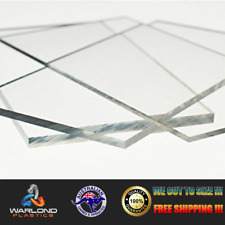 Clear Perspex Acrylic - Cut Sheets - Select Panel Sizes -  Free Tracked Shipping