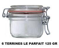LOT 6 BOCAUX TERRINE LE PARFAIT taille 125 GRAMMES ° 70 MM bocal en verre
