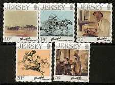 Jersey SG397/401 1986 Edmund blampied (artista) estampillada sin montar o nunca montada