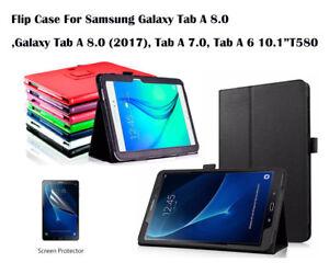 """For Samsung Galaxy Tab A 7.0"""" 8.0"""" Tab A 6 10.1 Screen Film/Flip PU Leather Case"""