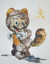 Andrew Harr Super Mario Abstract Painting Original Artwork New Nintendo Fine Art