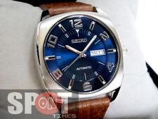 Seiko Retro Classic Leather Strap Automatic Men's Watch SNKN37K1