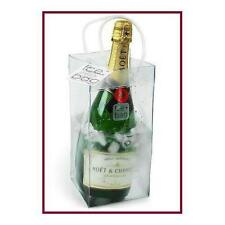 Clear Plastic Ice Bag Collapsible Wine Cooler Bag with handles New