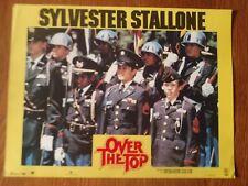 AFFICHE PROMOTIONNELLE FILM OVER THE TOP LE BRAS DE FER SYVESTER STALLONE