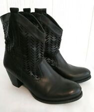"""Style & Co Dylan Women's Black Vegan Ankle Boots Pull On Western 2.5"""" Heel 9.5 M"""