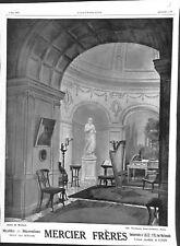 Publicité Meubles Décorations Mercier Frères Faubourg Saint- ILLUSTRATION 1913