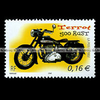 ★ TERROT 500 RGST ★ FRANCE Timbre Poste Moto Collection Motorcycle Stamp #9
