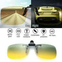 Polarized Day Night Vision Clip on Lens Driving Glass Sunglasses for Women Men