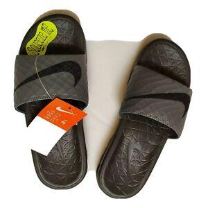 Nike Benassi Solarsoft Slide Grey black Sandals 705474 090 Men's Size 4