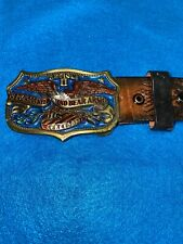 1982 Right To Keep Bear Arms Belt & Buckle Great American Buckle Co Usa Epc