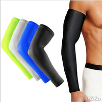 1pc White/Black Cooling Arm Sleeves Cover UV Sun Protection Unisex Outdoor Sport