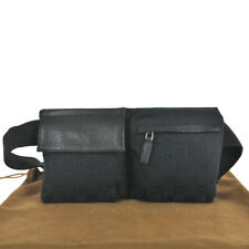 N59 Mini tamaño raro Bolsa Riñonera Cinturón Gucci Auténtico Cintura Bolso Bandolera Riñonera