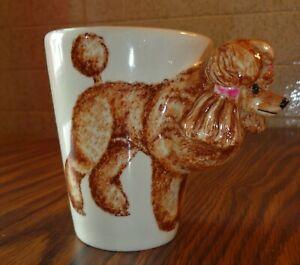 Blue Witch 3D Mug Apricot POODLE Dog Ceramic Hand Crafted 11 Oz  Coffee Cup Mug