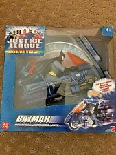 Justice League Mission Version; Batman Motorcycel, Mattel,  DC, NIB 2003
