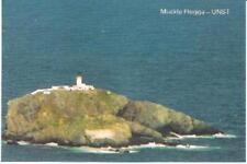 Muckle Flugga, Unst, Shetland - lighthouse - local postcard