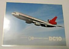 ORIGINAL VINTAGE NORTHWEST ORIENT AIRLINES ADVERTISING DC10 AIRPLANE PHOTO