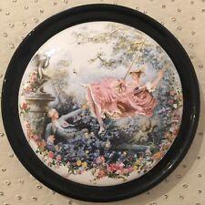 Cadre Rond En Porcelaine Coomans émaux de faïence Roanne Collection Décoration