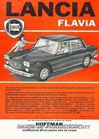 1961 Lancia Flavia - Original Advertisement Print Art Car Ad J682