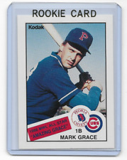 Mark Grace 1988 Kodak McDonalds Peoria Chiefs Rookie Card