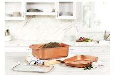 Copper Chef 3-Piece Wonder Cooker Baking Roaster Pan Nonstick Cookware Set