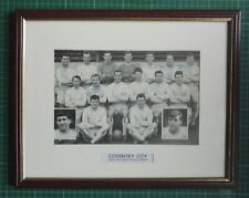 """1963-64 COVENTRY CITY 10 PLAYERS SIGNED MOUNTED PICTURE 15"""" x 12"""" FRAME - CHAMPS"""
