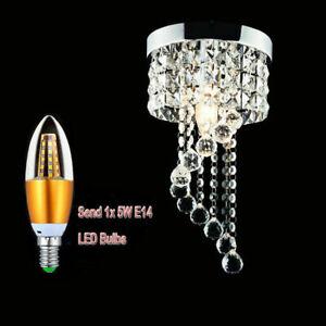 Modern Crystal LED Ceiling Lights Pendant Lamp Aisle Lights Chandeliers
