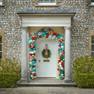 Giant Christmas Door Balloon Arch    Red Green Gold Candy Novelty Decor x240