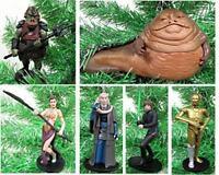 Star Wars RETURN OF THE JEDI 6 Piece Ornament Set Featuring Princess Leia, Luke