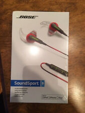 NEW SEALED Bose SoundSport In-Ear Headphones Apple Power Red 741776-0040