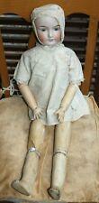 FURGA Bambola Anni 20 Antica 70 Centimetri Doll Museo Abito ORIGINALE Biscuit