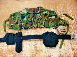 Paintball Tactical Shoulder Harness Vest and Tactical Belt