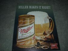 Miller High Life • Miller Makes It Right! • Tin Metal Sign