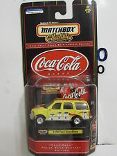 MATCHBOX COLLECTIBLES COCA COLA  1998 FORD EXPEDITION W/ STACKABLE DISPLAY