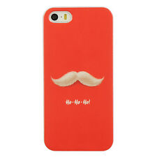 Apple iPhone 5 5S SE TPU CANDY Gel Flexi Skin Case Phone Cover Santa Mustache