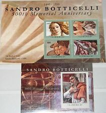 LIBERIA 2010 5776-79 Block 584 500th Mamorial Ann Botticelli Paintings Kunst MNH