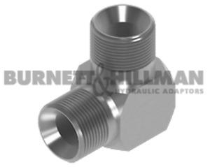 Burnett & Hillman Bsp Macho X 90° Compacto Codo Hidráulico Adaptador