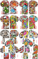 Henning Japanese Traditional Vintage Style Tattoo Flash 18 Sheets 11x17 Sleeves
