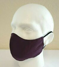 Face Mask Fitted, Purple (single) Reusable/Washable, Dual Layered, Made in UK!