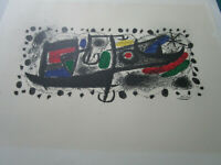 "JOAN MIRO LITHOGRAPH 24 X 17"" ON ARCHES PAPER WATERMARKED SIGNED ON PLATE"