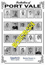 PORT VALE - 1920's PINNACE CARDS TEAM POSTER