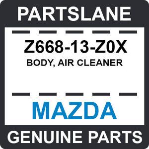 Z668-13-Z0X Mazda OEM Genuine BODY, AIR CLEANER