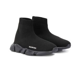 BALENCIAGA Kids Black Slip-on Sock Trainer Shoes UK 9-10 EU 27-28 US 10-11