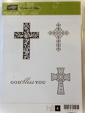 Stampin Up CROSSES OF HOPE clear mount stamps easter God Bless you