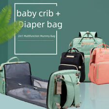 2020 Multifunctional Travel Mommy Diaper Bag With baby Crib Waterproof BackPack~