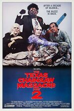 THE TEXAS CHAINSAW MASSACRE PART 2 (1986) ORIGINAL ROLLED VERSION A MOVIE POSTER