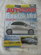 UNREAD STILL SEALED AUTOCAR MAG 21/3/2007 FIAT'S £8K MINI LAMBO CADDY IN EUROPE