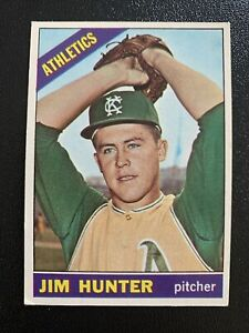 1966 Topps #36 Jim Catfish Hunter Oakland Athletics HOF Pitcher