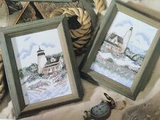 Lighthouses Counted Cross Stitch Kit Makes 2 Seashore & Victorian Summer Opened